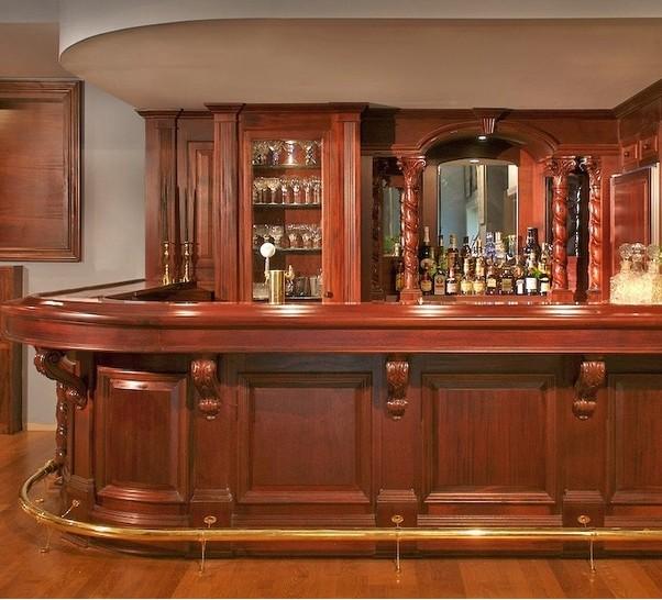 Arredo bar in legno di ciliegio tinto for Arredo bar usato