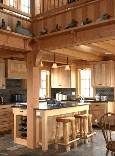 cucine artigianali per casa montagna