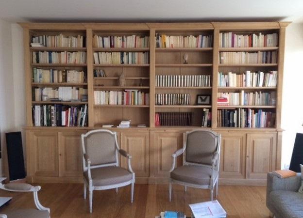 Librerie in legno a giorno